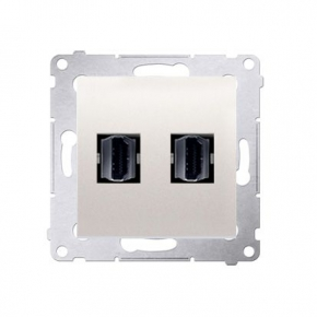 Gniazdo HDMI podwójne kremowe DGHDMI2.01/41 Simon 54 Kontakt-Simon
