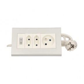 Przedluzacze-elektryczne - przedłużacz biurkowy z podświetlanym wyłącznikiem 2x2p/ii+1x2p+z or-ae-1327 orno