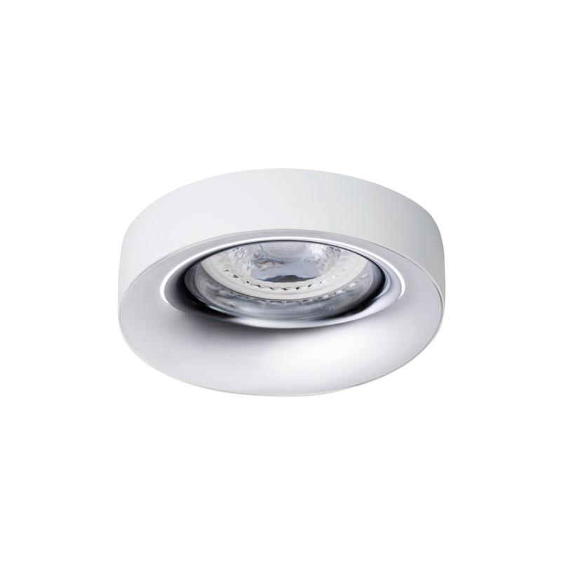 Oprawy-sufitowe - pierścień oprawy punktowej biel/chrom ip20 elnis l w/c kanlux firmy KANLUX