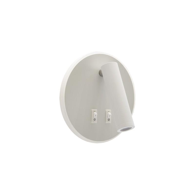 Kinkiety - ruchoma oprawa dekoracyjna z włącznikiem smd led otello led c 6w+3w biała 03722 ideus firmy IDEUS - STRUHM
