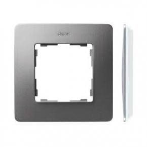 Ramka pojedyncza aluminiowa biała 8200610-093 Simon 82 Detail Kontakt-Simon