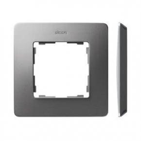 Ramka pojedyncza aluminiowa czarna 8200610-293 Simon 82 Detail Kontakt-Simon