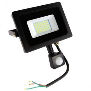 Naswietlacze-z-czujnikiem-ruchu - czarny naświetlacz led 20w z czujnikiem ruchu 1600lm ip65 120° 6400k zimny ld-inext20w-64 gtv