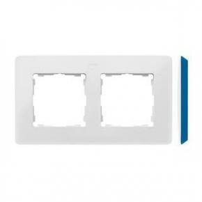 Ramka podwójna biała z niebieskim bokiem 8200620-201 Simon 82 Detail Kontakt-Simon