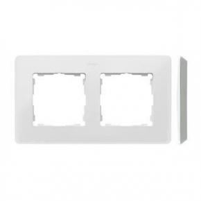 Ramka podwójna aluminiowa biała 8200620-230 Simon 82 Detail Kontakt-Simon
