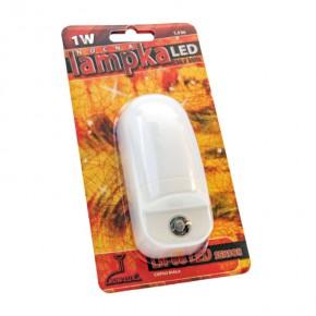 Lampki-do-kontaktu - lampka nocna wtykowa z czujnikiem zmierzchu ln-06 1w led rum-lux
