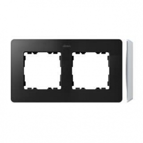 Ramka podwójna aluminiowa grafitowa 8200620-238 Simon 82 Detail Kontakt-Simon