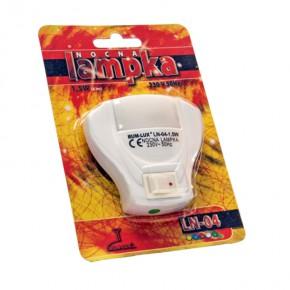 Lampki-do-kontaktu - lampka nocna wtykowa do kontaktu ln-04 muszla biała rumlux