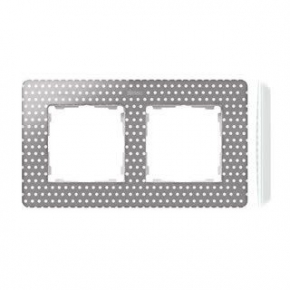Ramka podwójna szara w białe kropki 8200620-211 Simon 82 Detail Kontakt-Simon