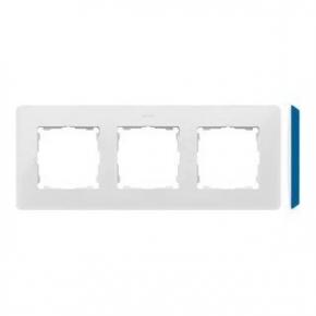 Ramka potrójna biała z niebieskim bokiem 8200630-201 Simon 82 Detail Kontakt-Simon
