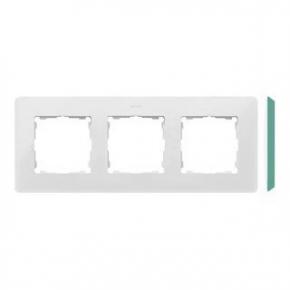Ramka potrójna biała z zielonym bokiem 8200630-202 Simon 82 Detail Kontakt-Simon