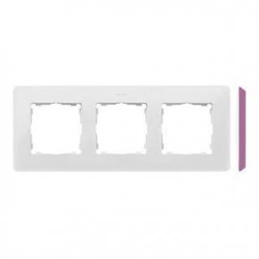 Ramka potrójna biała z różowym bokiem 8200630-203 Simon 82 Detail Kontakt-Simon