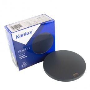 Kinkiety-ogrodowe - okrągły kinkiet elewacyjny forro led el 8w-gr 330lm 4000k ip54 grafit kanlux