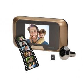 Wideodomofony - elektroniczny wizjer do drzwi na baterie z funkcją nagrywania micro sd or-wiz-1101 orno