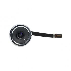 Wideodomofony - srebrny bateryjny wizjer elektroniczny do drzwi 4'' na baterie 3xaaa or-wiz-1107 orno