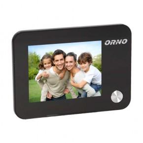 Wideodomofony - elektroniczny wizjer do drzwi na baterie z dzwonkiem podświetleniem nocnym zoomem i funkcją nagrywania na kartę or-wiz-1102 orno