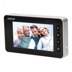 Wideodomofony - wideo wizjer elektroniczny do drzwi na baterie z funkcją nagrywania czujnikiem ruchu i menu w 9 językach or-wiz-1106 orno