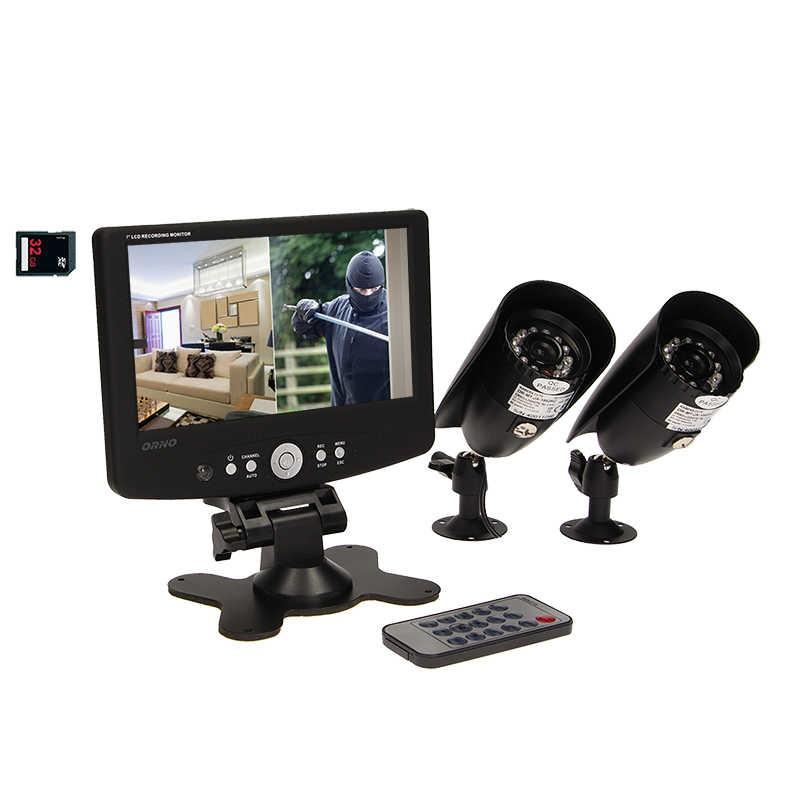 Wideodomofony - system do monitoringu przewodowy 2-kanałowy cctv lcd 7'' or-mt-jx-1802 orno firmy ORNO
