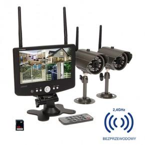 Wideodomofony - system do monitoringu 4-kanałowy bezprzewodowy cctv lcd 7'' 150m or-mt-je-1801 orno