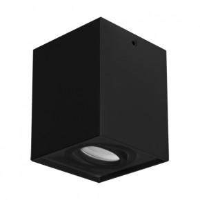 Oprawy-sufitowe - oprawa sufitowa ruchoma czarna hary d gu10 03716 ideus