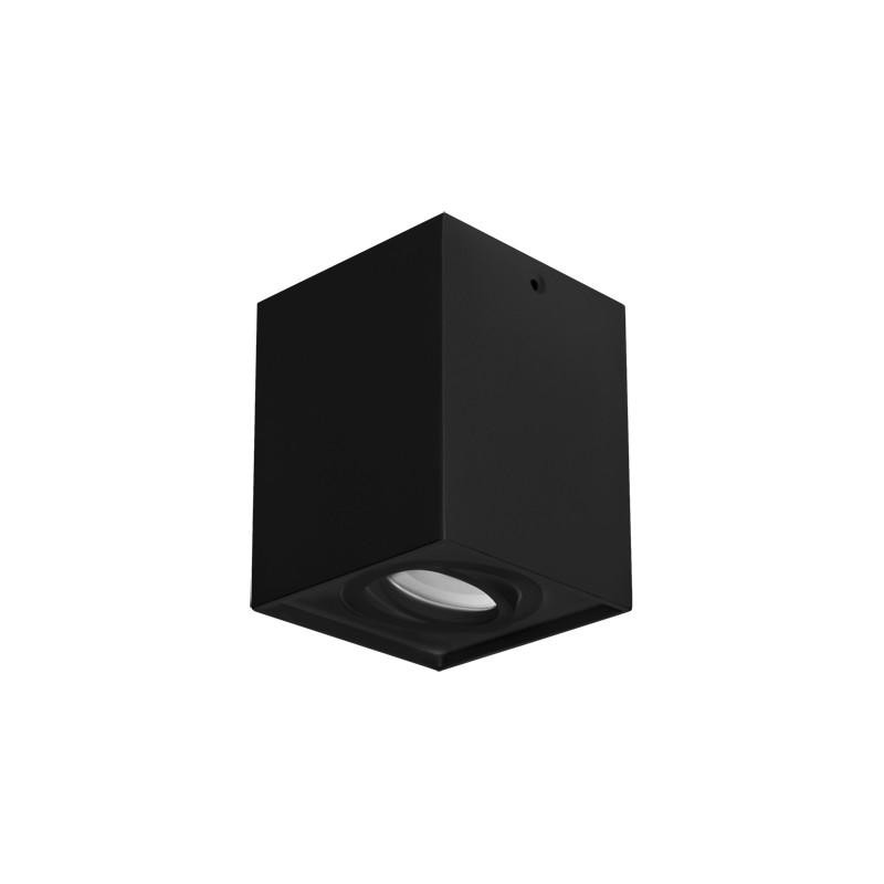 Oprawy-sufitowe - oprawa sufitowa ruchoma czarna hary d gu10 03716 ideus firmy IDEUS