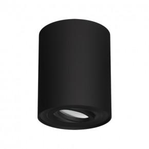 Oprawy-sufitowe - natynkowa oprawa sufitowa czarna hary c gu10 03713 ideus