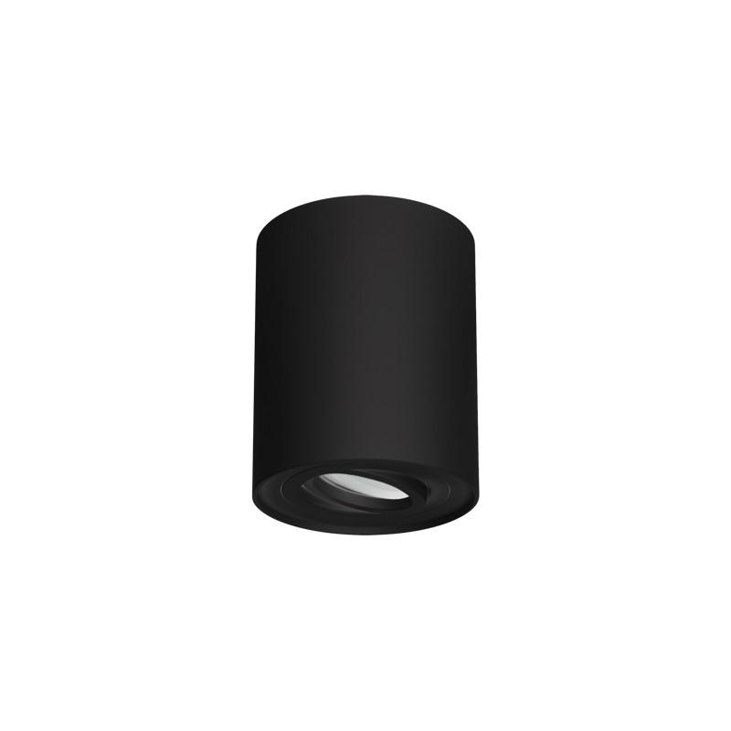 Oprawy-sufitowe - natynkowa oprawa sufitowa czarna hary c gu10 03713 ideus firmy IDEUS