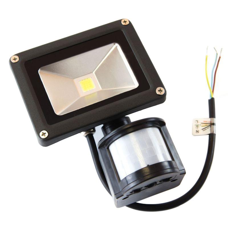 Naswietlacze-z-czujnikiem-ruchu - naświetlacz led 10w z czujnikiem ruchu c62-s-pled-010bl-6k kafler  6000k firmy BEMKO