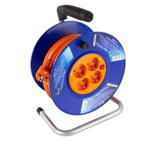 Przedluzacze-bebnowe - przedłużacz bębnowy z uziemieniem pomarańczowy 20m 4 gniazdowy 1mm2  2300w emos p19420