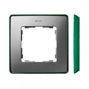Ramka pojedyncza aluminiowa zielona 8201610-253 Simon 82 Detail Kontakt-Simon