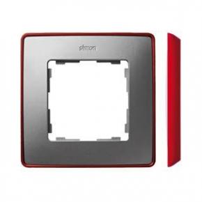Ramka pojedyncza aluminiowa czerwona 8201610-255 Simon 82 Detail Kontakt-Simon