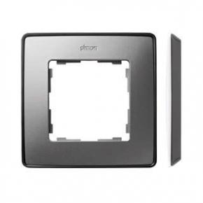 Ramka pojedyncza aluminiowa grafitowa 8201610-293 Simon 82 Detail Kontakt-Simon