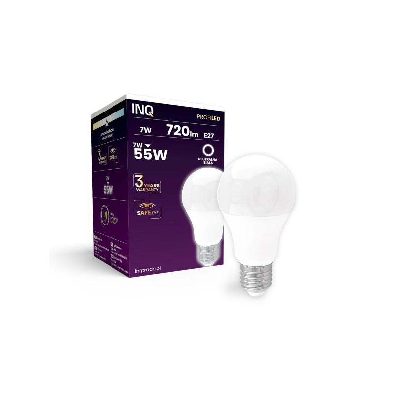 Gwint-trzonek-e27 - energooszczędna żarówka e27 lampa led profi 7w 720lm a60 e27 840 inq firmy INQ