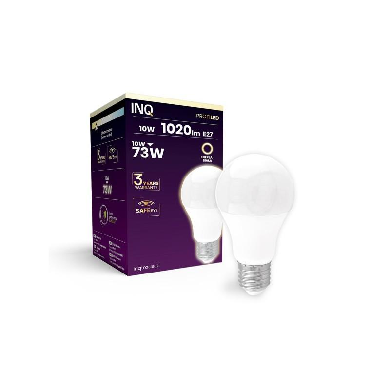 Gwint-trzonek-e27 - ceramiczna żarówka led profi 10w 1020lm a60 e27 830 inq firmy INQ