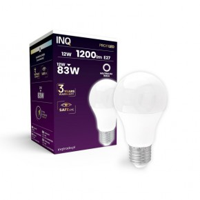 Gwint-trzonek-e27 - ceramiczna żarówka led e27 lampa led profi 12w 1200lm a60 840 inq