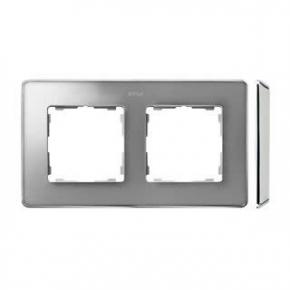Ramka podwójna aluminiowa chromowana 8201620-093 Simon 82 Detail Kontakt-Simon