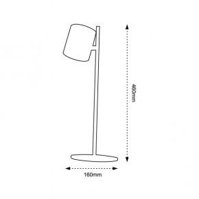 Lampki-biurkowe - czarna lampka led na biurko o mocy 6,5w 4000k 450lm zoe led px043 nilsen