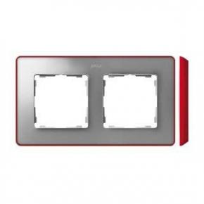 Ramka podwójna aluminiowa czerwona 8201620-255 Simon 82 Detail Kontakt-Simon