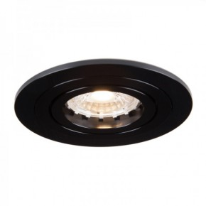 Oprawy-sufitowe - okrągła oprawa wpuszczana ozzo mino 212-bb ip20 czarna szczotkowana inq
