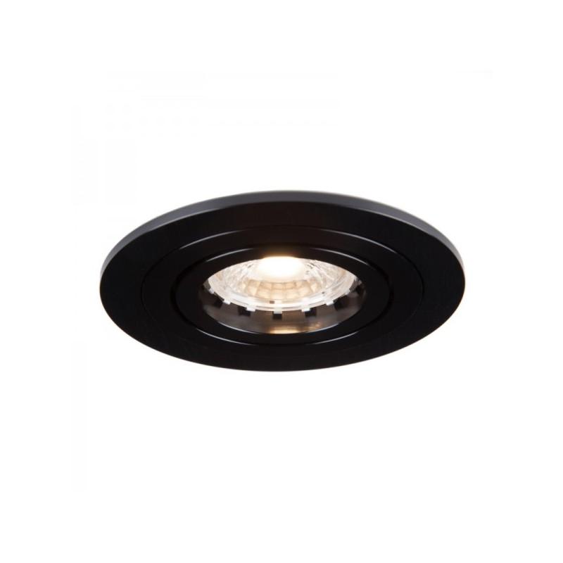 Oprawy-sufitowe - okrągła oprawa wpuszczana ozzo mino 212-bb ip20 czarna szczotkowana inq firmy INQ