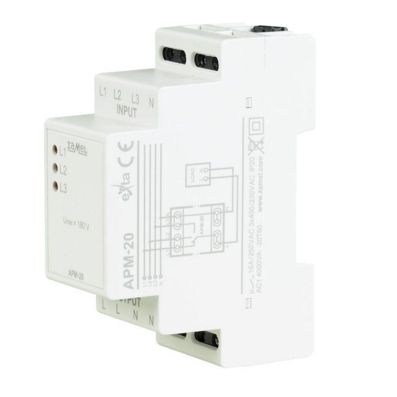Przekazniki-kontroli-faz - automatyczny przełącznik faz apm-20 zamel firmy ZAMEL