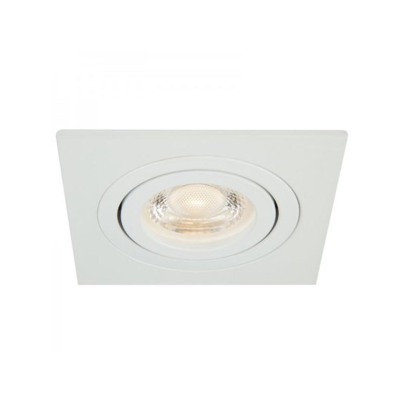 Oprawy-sufitowe - kwadratowa oprawa ozzo mino 222-wh ip20 alu biała inq firmy INQ