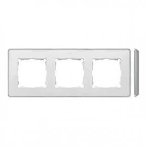 Ramka potrójna aluminiowa biała 8201630-243 Simon 82 Detail Kontakt-Simon