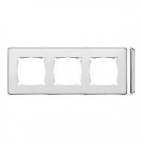 Ramka potrójna biała chromowana 8201630-244 Simon 82 Detail Kontakt-Simon