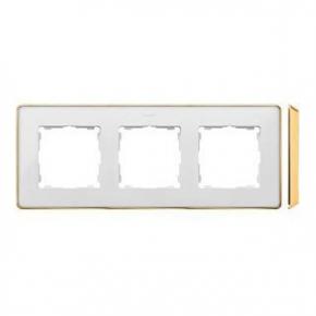 Ramka potrójna biała złota 8201630-245 Simon 82 Detail Kontakt-Simon