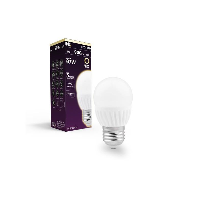 Gwint-trzonek-e27 - ceramiczna żarówka led e27 profi 9w 900lm p45 830 ceramiczna inq firmy INQ
