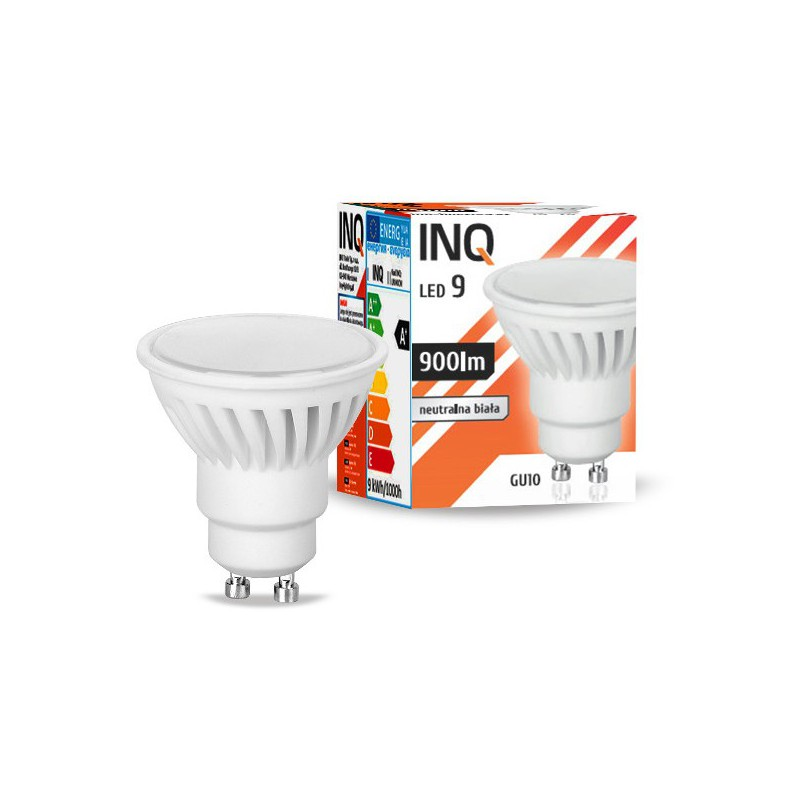 Gwint-trzonek-gu10 - żarówka led gu10 9w 900lm 840 ceramiczna 3 lata gwarancji inq firmy INQ
