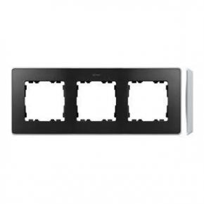 Ramka potrójna aluminiowa grafitowa 8201630-240 Simon 82 Detail Kontakt-Simon