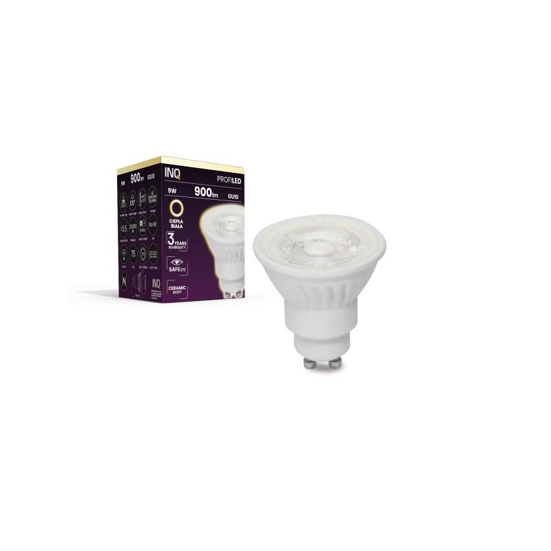 Gwint-trzonek-gu10 - ceramiczna żarówka led gu10 profi 9w 900lm 830 soczewka ceramiczna inq firmy INQ