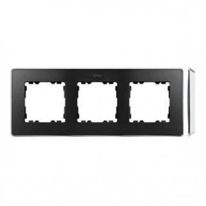 Ramka potrójna chromowana grafitowa 8201630-241 Simon 82 Detail Kontakt-Simon